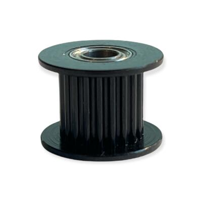 GT2 20T Toothed Idler (9mm Toothed Idler + 5mm bore) - Black